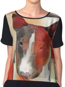 Bull Terrier - full frontal Chiffon Top