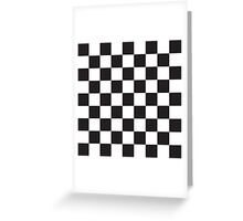 Checkerboard Black and White Blocks Greeting Card