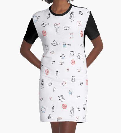 Alice Print Graphic T-Shirt Dress