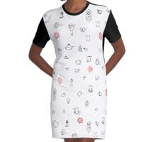 Alice Print Graphic T-Shirt Dress