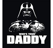 Funny Darth Vader Photographic Print
