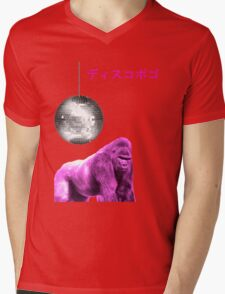 funky gorilla Mens V-Neck T-Shirt