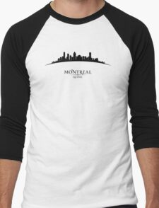 Montreal Quebec Cityscape Men's Baseball ¾ T-Shirt
