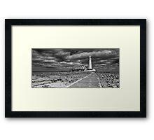 St Mary's Lighthouse Landscape Framed Print