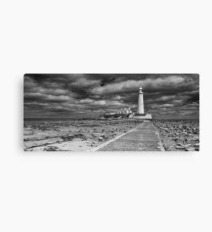 St Mary's Lighthouse Landscape Canvas Print
