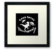 T-Rex Loves Tightropes! Framed Print