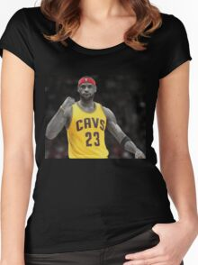 LeBron James- 2016 Cavaliers NBA Champions Women's Fitted Scoop T-Shirt