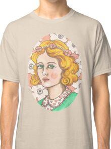 """Priscilla"" Retro Portrait Illustration Classic T-Shirt"