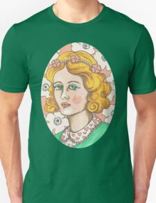 """Priscilla"" Retro Portrait Illustration Unisex T-Shirt"