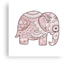 Pink Mandala Elephant Canvas Print