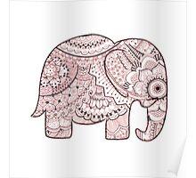 Pink Mandala Elephant Poster