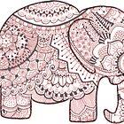 Pink Mandala Elephant by Aimi Devine
