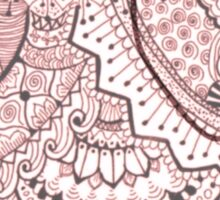 Pink Mandala Elephant Sticker