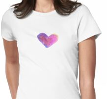hearts have colors {don't we all know} Womens Fitted T-Shirt