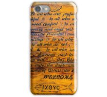 Rustic Wooden Alaska Church Sign iPhone Case/Skin