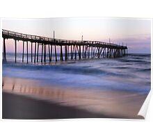 Avon Fishing Pier and Atlantic Ocean at Dawn Poster