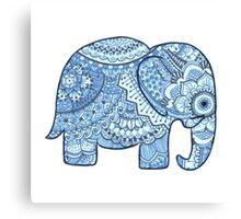 Blue Mandala Elephant Canvas Print