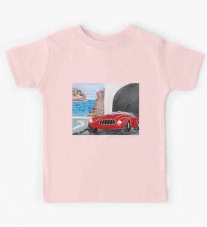 Zoomin Down the Highway in My Red Road Racer Kids Tee