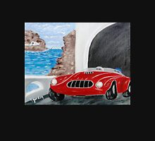 Zoomin Down the Highway in My Red Road Racer Unisex T-Shirt