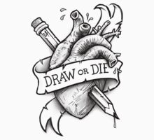 Draw or Die - Black and Red One Piece - Short Sleeve