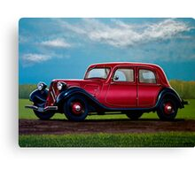 Citroen Traction Avant Painting Canvas Print