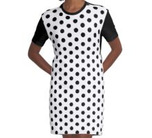 Black Polka Dot Spotty Dress Graphic T-Shirt Dress