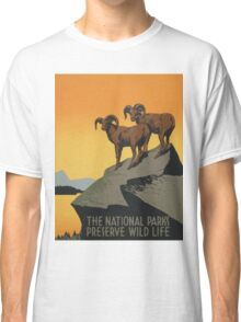The National Parks Preserve Wild Life Vintage Travel Poster Classic T-Shirt