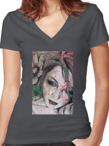 Cleopatra's Sling Women's Fitted V-Neck T-Shirt