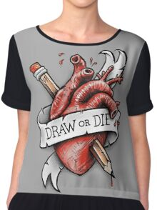 Draw or Die Chiffon Top