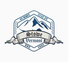 Stowe Ski Resort Vermont Kids Tee