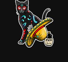 Gato en un Sombrero - Day of the Dead Cat - Dia de los Muertos Sugar Skull Kitty Unisex T-Shirt