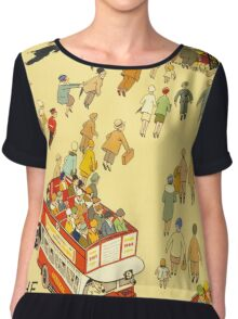 Lure of the Underground - Vintage London Poster Chiffon Top