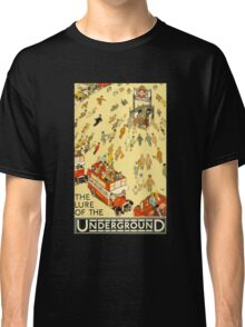 Lure of the Underground - Vintage London Poster Classic T-Shirt