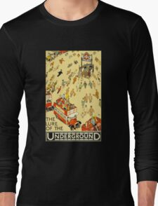 Lure of the Underground - Vintage London Poster Long Sleeve T-Shirt