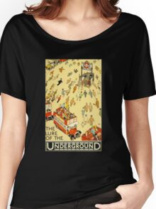 Lure of the Underground - Vintage London Poster Women's Relaxed Fit T-Shirt