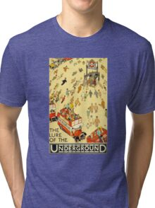 Lure of the Underground - Vintage London Poster Tri-blend T-Shirt