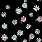 Black White and Pastel Floral by Greenbaby