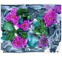 Abstract Water Lilies Poster