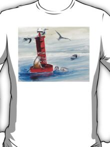 Permission to Come Aboard? Buoys will be buoys... T-Shirt