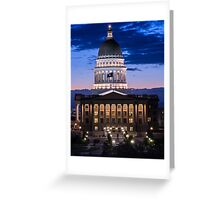 Utah Capitol Sunset - Salt Lake City Greeting Card