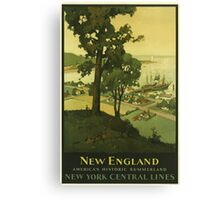 New England Americas Historic Summerland Vintage Travel Poster Canvas Print