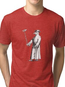 Plague Doctor (for the morbidly inclined) Tri-blend T-Shirt