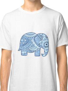 Blue Mandala Elephant Classic T-Shirt