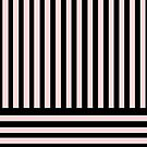 Black and Blush Pink Stripes by Greenbaby