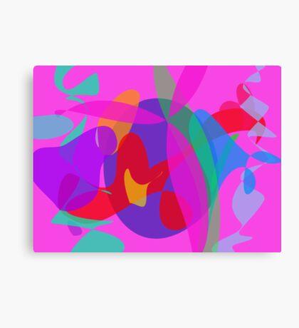 Unique Psychedelic Pink Design Canvas Print