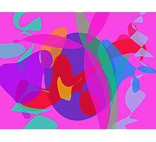 Unique Psychedelic Pink Design Photographic Print