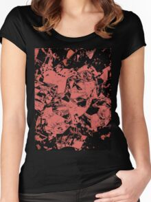 Pink & Black Women's Fitted Scoop T-Shirt