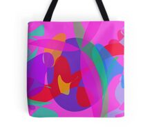 Unique Psychedelic Pink Design Tote Bag