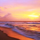 Surf on the beach at sunrise, Cape Hatteras National Seashore by Roupen  Baker