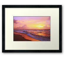 Surf on the beach at sunrise, Cape Hatteras National Seashore Framed Print